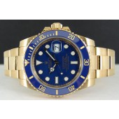 2013 - ROLEX 18kt Gold Submariner Blue CERAMIC Model - 116618