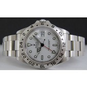 ROLEX - Mens 40mm Stainless Explorer II White Index Dial - 16570 SANT BLANC