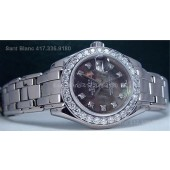 ROLEX White Gold Ladies Diamond MOP PearlMaster - 80299 SANT BLANC