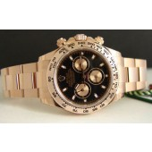 2012 - ROLEX - 18kt Ever Rose Gold DAYTONA Black Dial - Model 116505