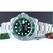ROLEX - SUBMARINER Green - Ceramic Bezel - 116610 SANT BLANC