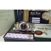 ROLEX - Yacht-Master 18kt Gold & Stainless Mid-Size 35mm Blue 168623