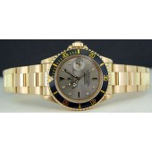 MENS 40mm Submariner 18kt GOLD - Slate Serti Dial - 16618