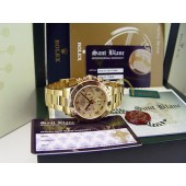 ROLEX - 18kt Gold DAYTONA Canary Gold Mother Of Pearl Roman - 116528 SANT BLANC
