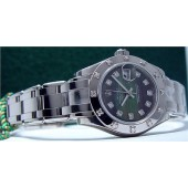Ladies ROLEX 18kt White Gold PearlMaster Mother of Pearl Diamond 80319