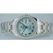 ROLEX - Men's 39mm Platinum Masterpiece Glacier Roman Dial - 18946
