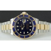 ROLEX - 40mm 18kt Gold & Stainless Steel Submariner Blue Dial - 16613 SANT BLANC