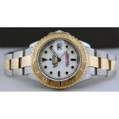 ROLEX -18kt Gold & Stainless Steel 29mm Ladies YACHT-MASTER White Index Dial 169623