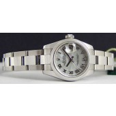 ROLEX Stainless Ladies Mother of Pearl DateJust 179160 SANT BLANC