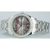 ROLEX Mens 18946 Platinum Pearl MASTERPIECE Model 18946