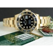 ROLEX 18kt Gold Submariner Black CERAMIC Model - 116618
