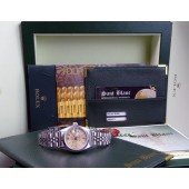 ROLEX - SS Ladies Date Silver Tapestry Dial - 69160 SANT BLANC