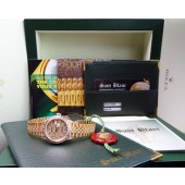 ROLEX - Ladies 18kt Gold DateJust Full Diamond Dial/Lugs - 69238