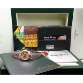 ROLEX - 18kt Gold & SS Ladies DateJust Champagne Index 79173 SANT BLANC