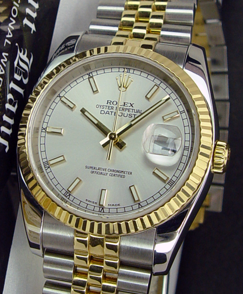Rolex Datejust Gold And Silver