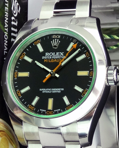 Rolex Milgauss Reference 116400GV Vertical Image