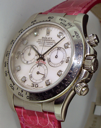 ROLEX - 18kt White Gold Daytona ROSE Mother Of Pearl Diamond 116519