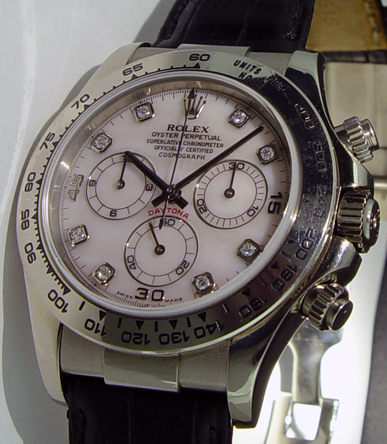 ROLEX - Daytona 18kt White Gold  ROSE Mother Of Pearl Diamond 116519