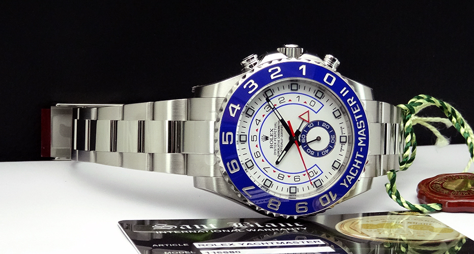 2014 ROLEX - Men's Stainless Steel Yacht-master II - White Dial - 116680