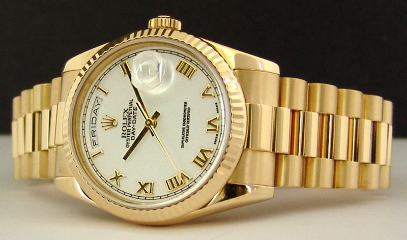swiss watches rolex men s 18kt gold day date president 118238 118238 rolex day date president whirom l jpg