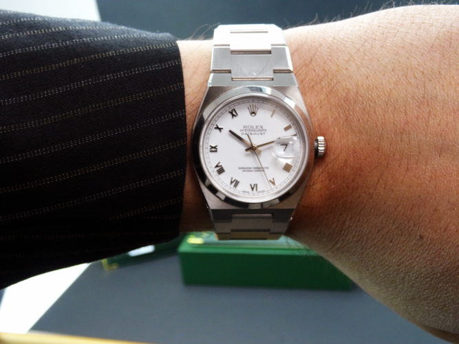 ROLEX - Stainess Steel OysterQuartz DateJust White Roman - 17000 SANT BLANC