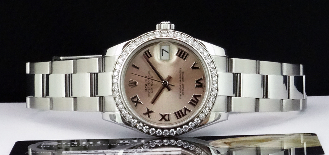 ROLEX - Mid-Size Datejust 31mm - Pink Roman Dial - 178384