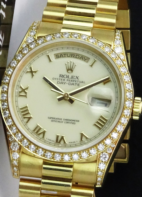 Gents 18ct Gold Rolex Day Date Automatic President Bracelet