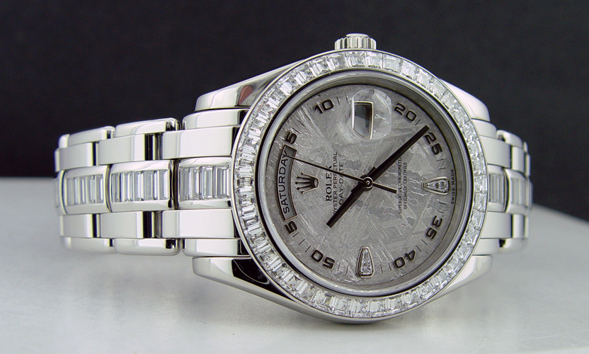 Men's Rolex President with the Meteorite, Diamond Dial