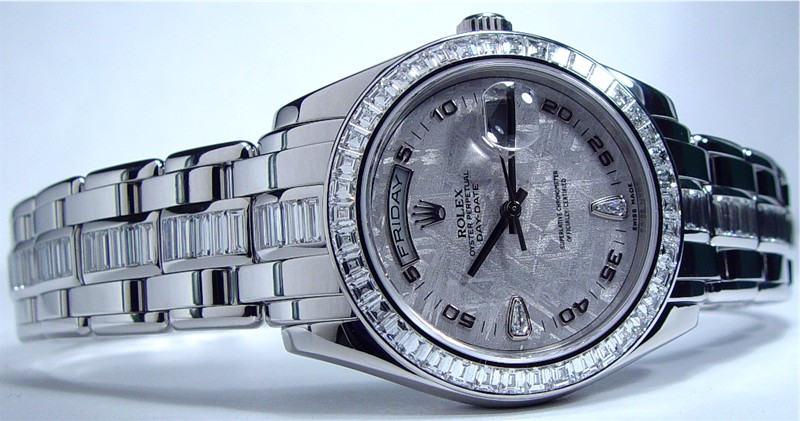 Men's Rolex Platinum Masterpiece with the Diamond Bracelet