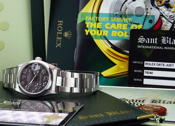 ROLEX - 31mm Mid-Size Stainless Steel Datejust Silver Floral - 78240 SANT BLANC