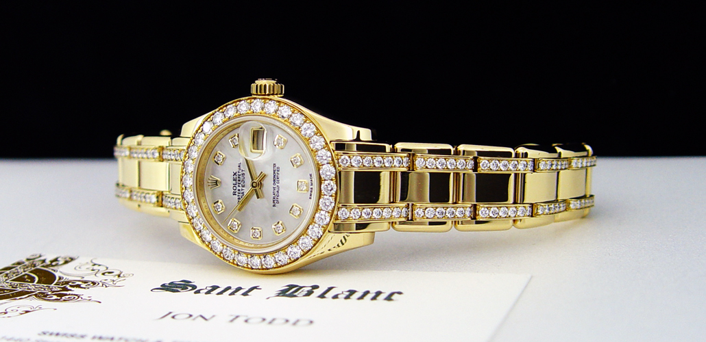 Ladies Diamond Rolex Watch with Diamond Bracelet