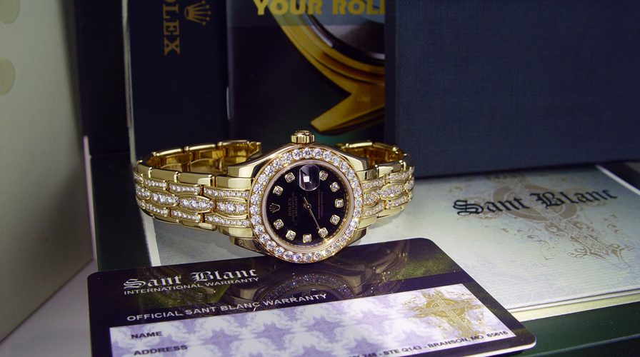 Ladies Rolex Pearlmaster in a Rolex Box