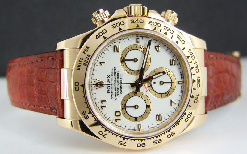 e3eee8ad522 ROLEX - Mens 40mm 18kt Yellow Gold Daytona - White Arabic Dial ...